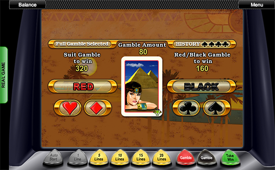 Queen of the Nile Gamble Feature