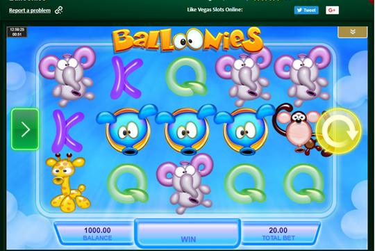 Balloonies interface