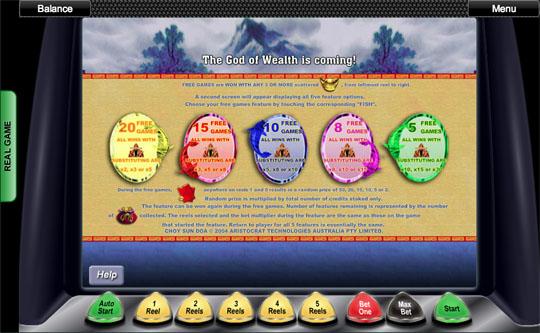 Choy Sun Doa Paytable 2