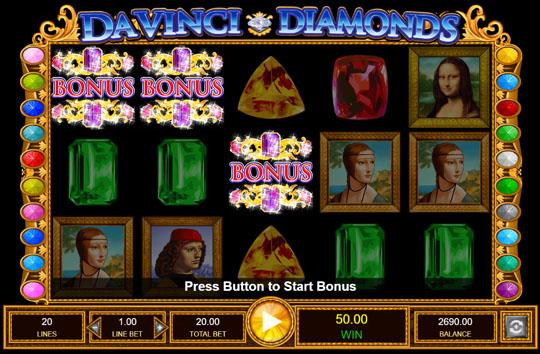 Da Vinci Diamonds Bonus