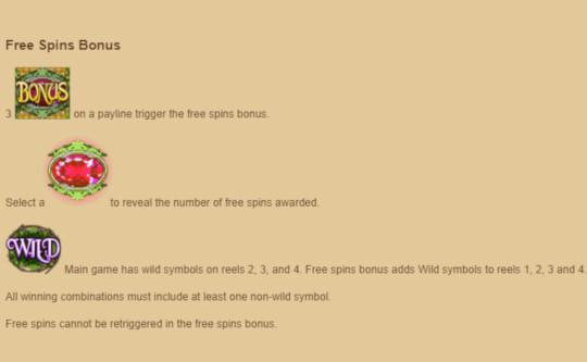 Pixies free spins bonus