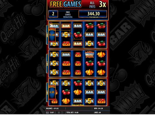 Triple Cash Wheel bonus 2