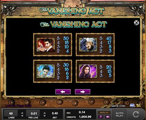 Vanishing Act Slot
