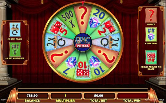 Epic Monopoly II Bonus Feature Epic Wheel Mystery Win