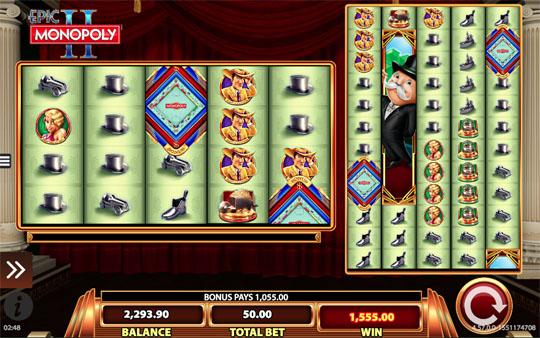 Epic Monopoly II Bonus Feature Trigger