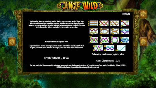 Jungle Wild paylines