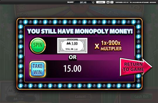 Super Monopoly Money Wheel Cash Out